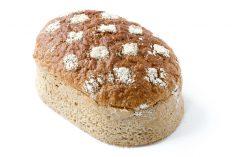 Pünktchen Brot auf hellem Grund